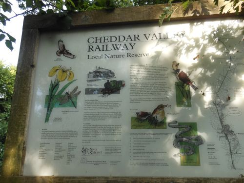 Cheddar Valley Railway sign, just outside Winscombe
