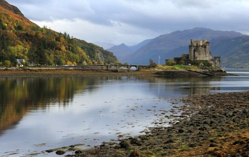 Autumn view of Eilean Donan Castle