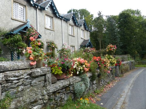 colourful cottage garden near Holker Hall
