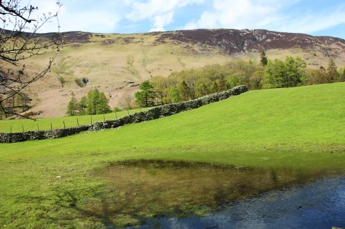 Picturesque countryside at Borrowdale