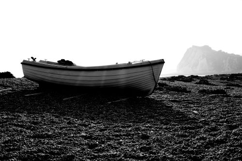 Solitary Boat on Dover Beach, Kent