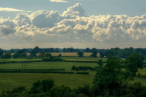 Stormy Clouds, Hillesden, Buckinghamshire