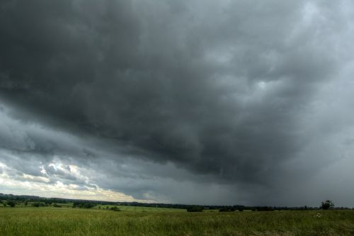 Stormcloud over Hillesden, Buckinghamshire