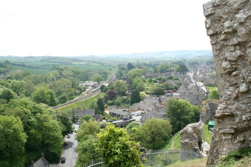 The village of Corfe Castle, in Dorset
