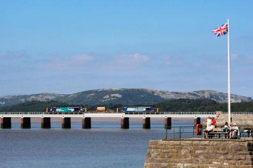 Arnside Pier and viaduct.
