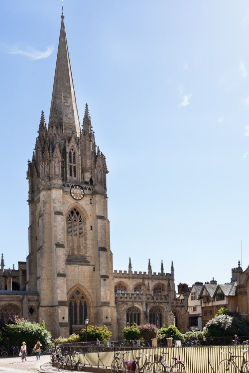 Radcliffe Square and the tower of St. Mary the Virgin, Oxford