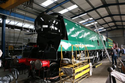 92 Squadron Battle of Britain Class Locomotive at Wansford
