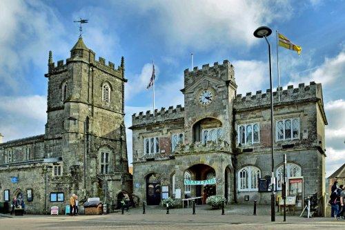 Shaftesbury ~ Town Hall and Church.