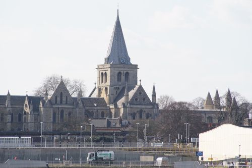 Rochester Cathedral From Across The Medway