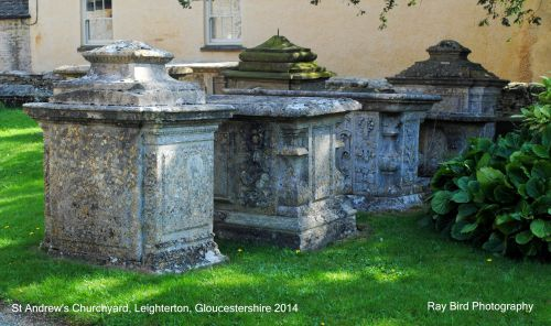 Old Tombs, St Andrews Churchyard, Leighterton, Gloucestershire 2014