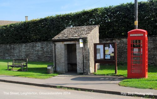 Telephone Box & Bus Shelter, The Street, Leighterton, Gloucestershire 2014