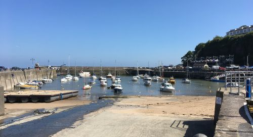 Saundersfoot Harbour in the county of Pembrokshire.