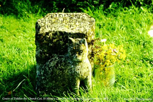 Tiddles the Church Cat Grave, St Mary's Churchyard, Fairford, Gloucestershire 2002