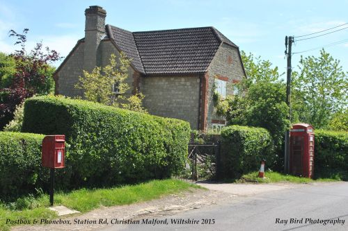 Postbox & Telephone Kiosk, Christian Malford, Wiltshire 2015