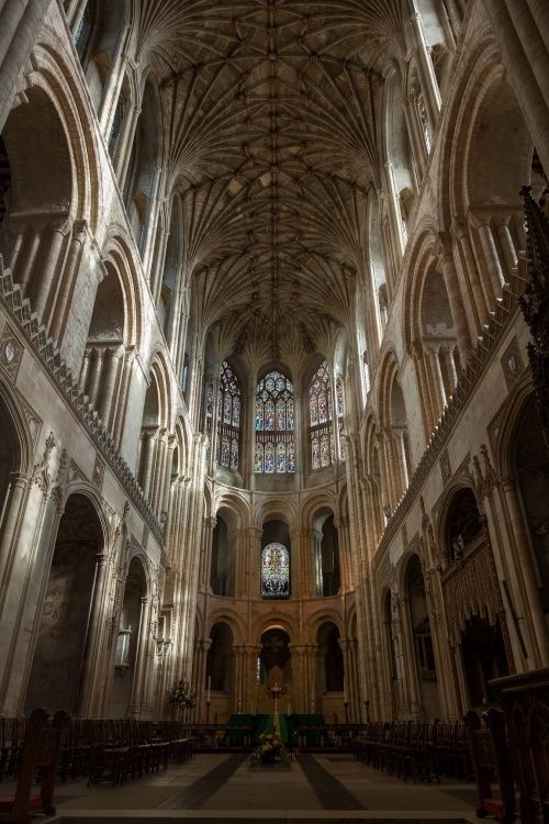 """""""Norwich Cathedral interior"""" by Andreas Lindberg at PicturesofEngland.com"""