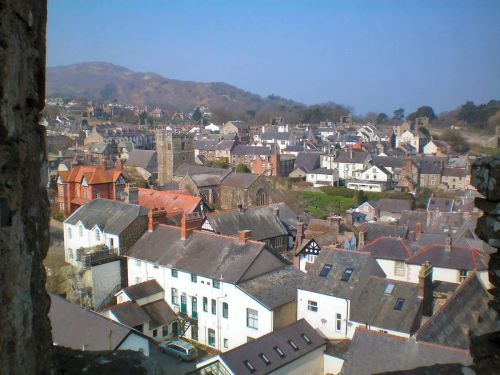A view of Conwy town, Conway