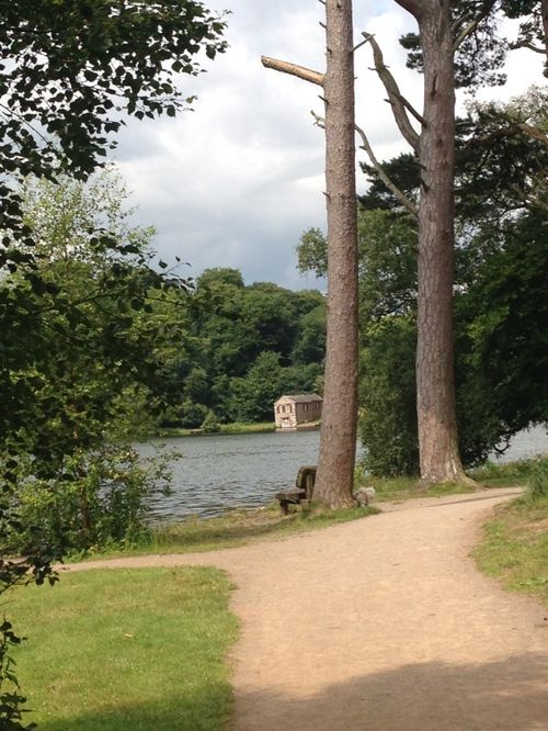 The boathouse at Talkin Tarn, Brampton, Cumbria