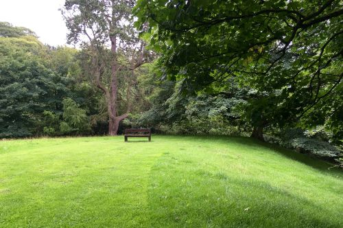 A seat to relax and admire the view, Bishops Park, Bishop Auckland.