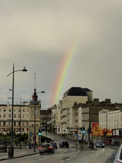 A rainbow after the storm at Margate, Kent