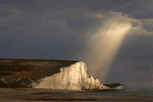 Evening rays over the Seven Sisters