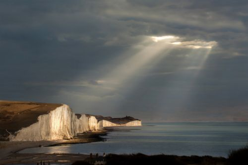 Spotlights over the Seven Sisters