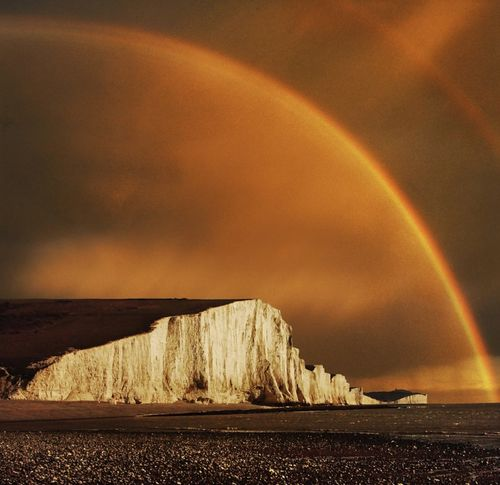 Golden Rainbow over the Seven Sisters