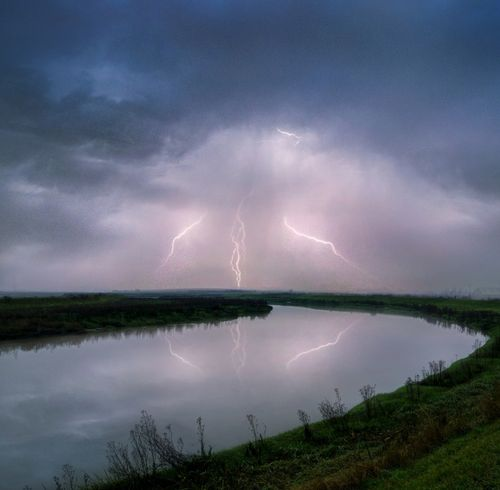 Lightning over the River Darent