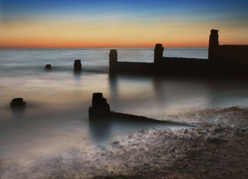 dawn at Whitstable Beach