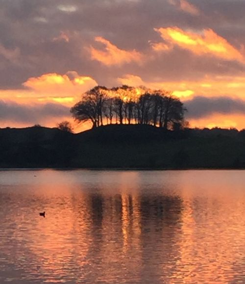 Talkin Tarn, Brampton, sunset yesterday