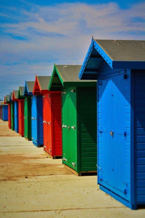 Beach Huts on Hastings