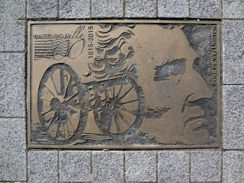 Waterlooville, Batlte of Waterloo, Commemorative plaque