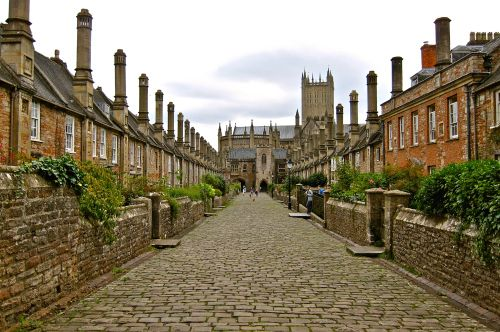Vicars Close, Wells, UK - Walking Out