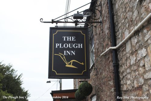 The Plough Inn Sign, Wotton Road, Charfield, Gloucestershire 2014