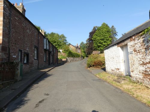 Wetheral, Cumbria - the road down to the river Eden