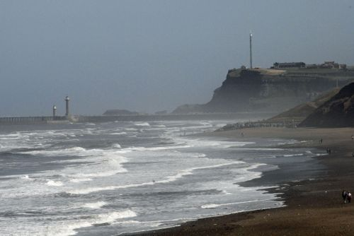 Whitby Harbour but the weather is getting a bit stormy