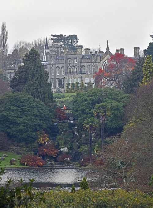 View of Sheffield Park House from the lakeside