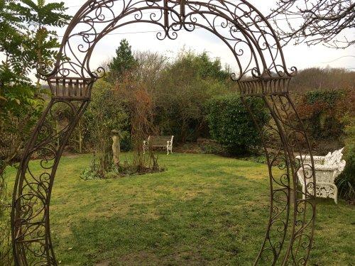 Gardens in Winter Durham City.