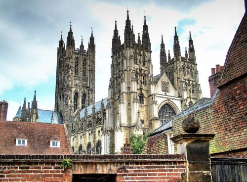 Canterbury Cathedral over the wall