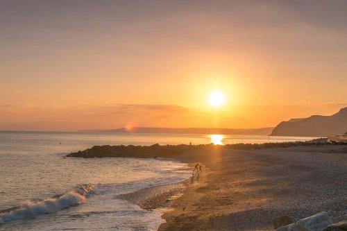 Sun down on the beach