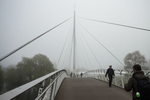 Foggy morning at Christchurch Bridge, Reading