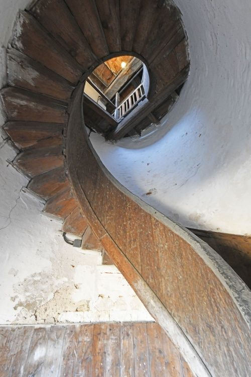 Upnor Castle spiral staircase in tower