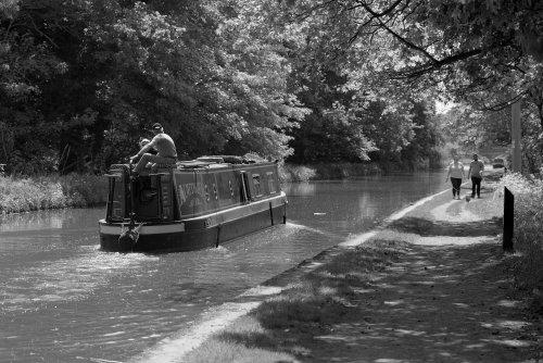 Narrowboat & Towpath, Shropshire Union Canal, Market Drayton, Shropshire