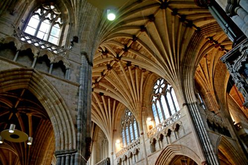 A lofty look inside Exeter Cathedral