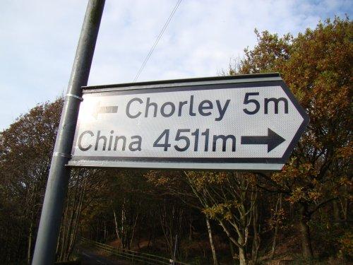 Chorley To China