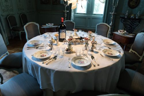 Table set for lunch at Waddesdon