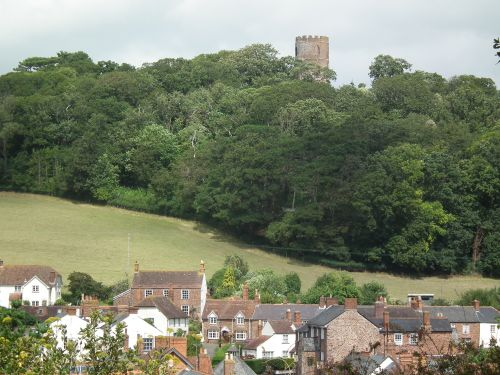 View over the village from Dunster Castle