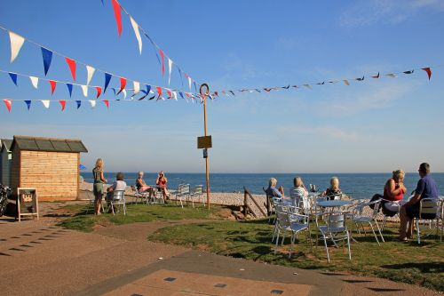 Budleigh's eastern promenade cafe