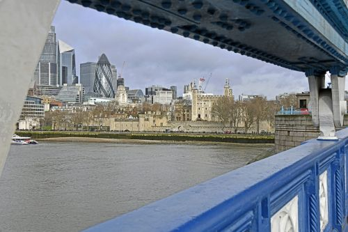 View along Thames Path, London
