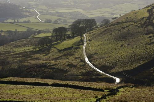 Winding Road near Burntcliff Top, Cheshire