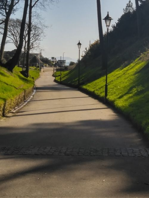The way to the sea at Boscombe Chine Gardens (Dorset)